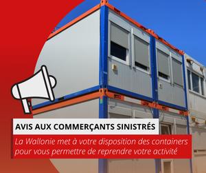 Mise à disposition de containers pour les indépendants et commerçants